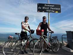 Boven op de Mont Ventoux