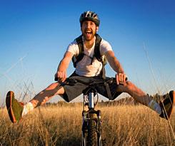 Vrolijke fietser